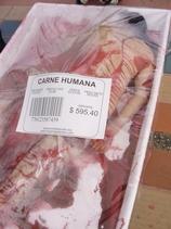 Bandeja de carne humana en la 1 feria de protecci n - Clases de cocina medellin ...